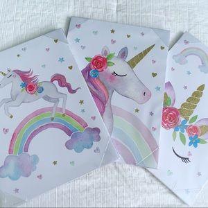 Set of 3 Unicorn Canvas Frames